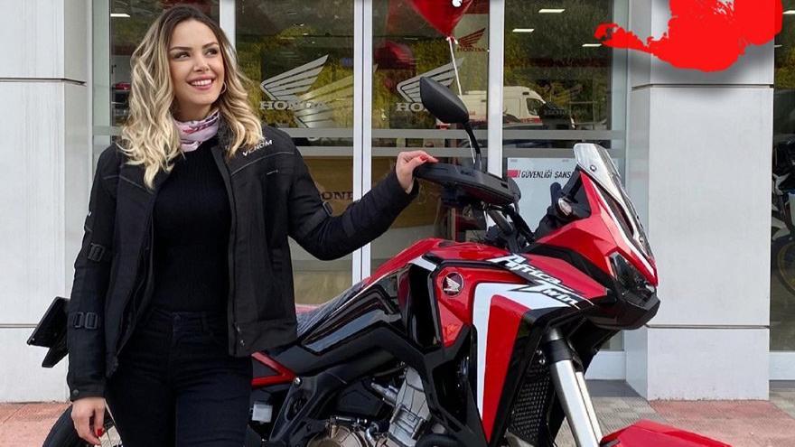 Serpil motosikletiyle dünyayı fethediyor