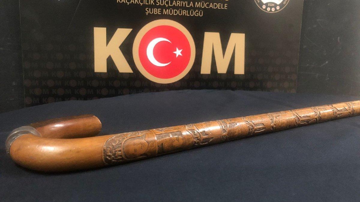 Atatürk'e ait olduğu iddia edilen bastona emniyet el koydu