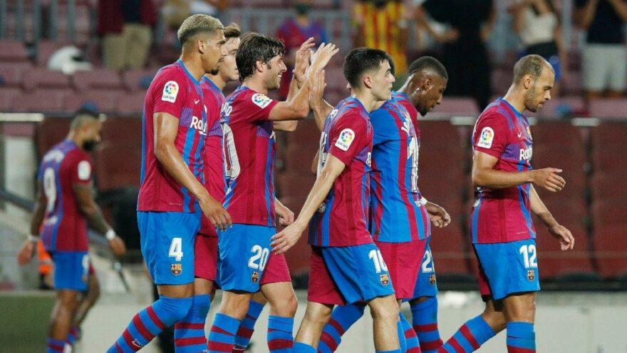 Barcelona Messi'siz ilk maçında gol yağdırdı! Braithwaite yıldızlaştı