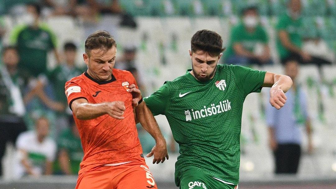 Bursaspor ve Adanaspor 1'er puana razı oldu