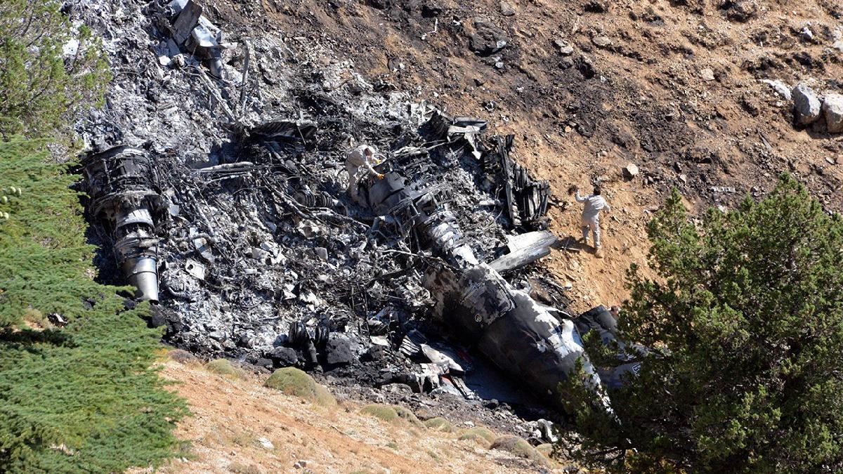 Düşen yangın söndürme uçağının kara kutusu bulundu