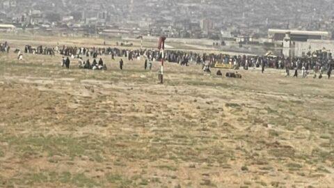 Kabil Havaalanı'nda kaos anları
