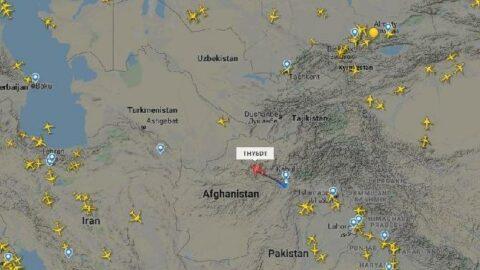 Marmara uçağı havada tek başına