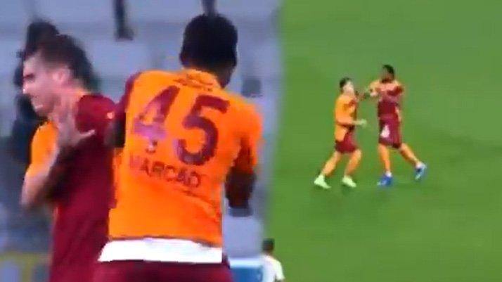 Galatasaray'da inanılmaz olay! Marcao takım arkadaşı Kerem Aktürkoğlu'na saldırdı...