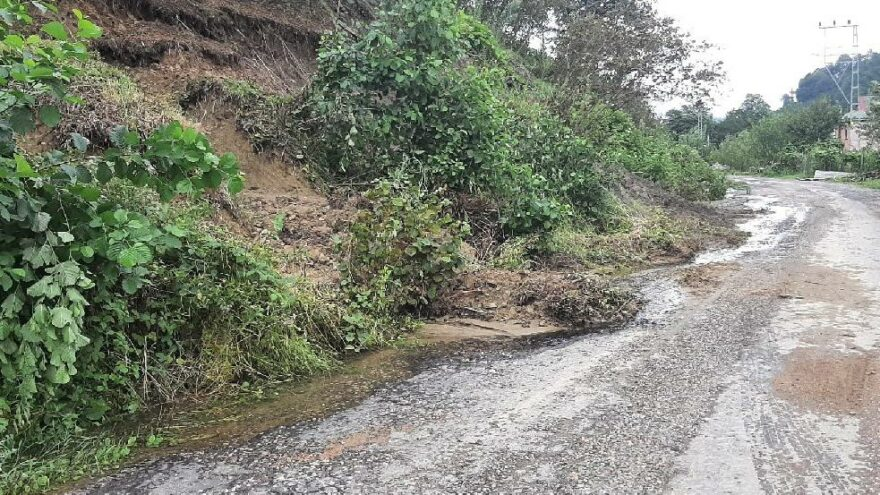 Ordu'da 7 günlük yağışta 671 heyelan