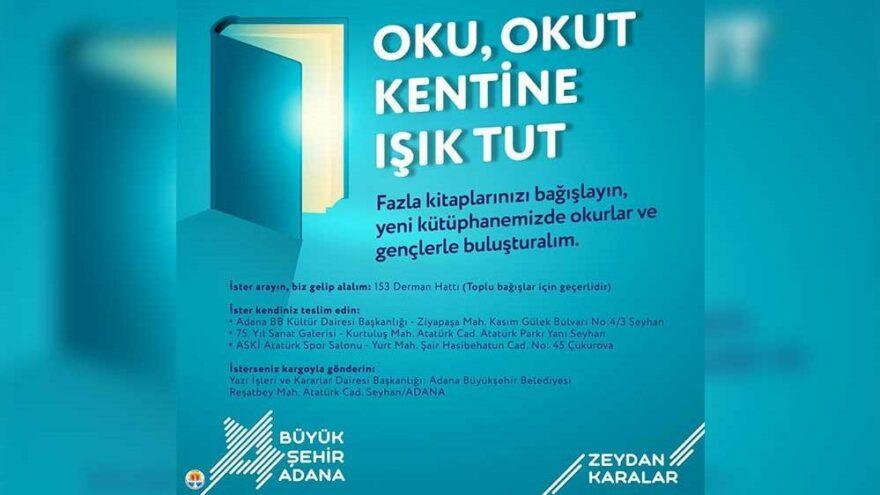 İnce Memed Halk Kütüphanesi için kitap bağışı kampanyası