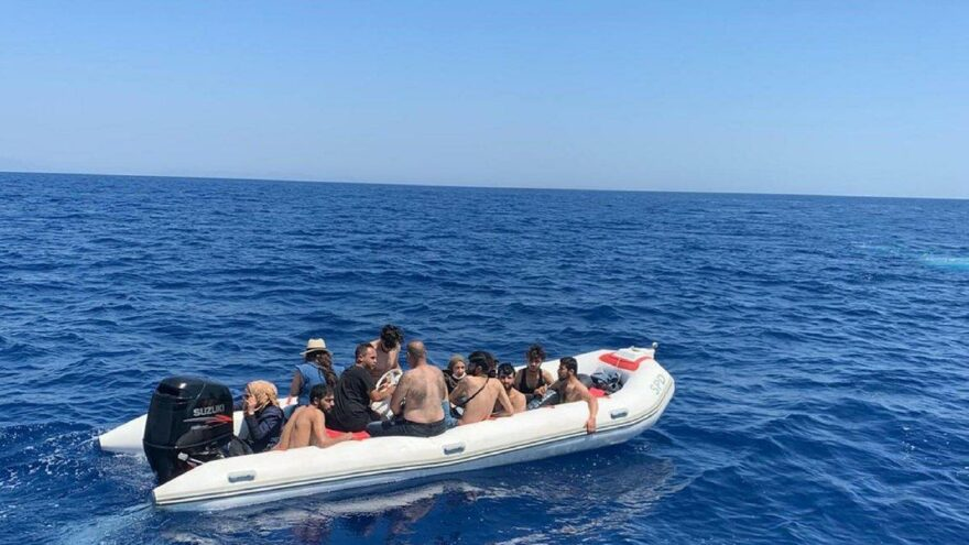 Marmaris açıklarında 46 kaçak göçmen yakalandı
