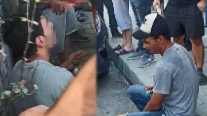Yabancı uyruklu şahıs çocuklara taciz girişiminde bulundu! Mahalle ayağa kalktı