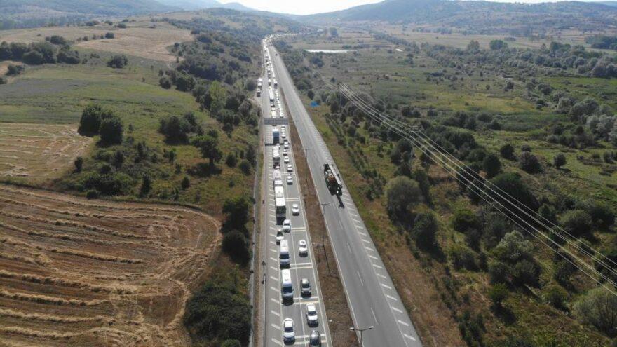 TEM'in Ankara yönü trafiğe kapatıldı
