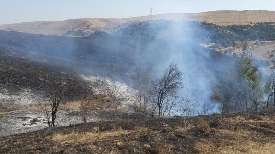 Kaynak makinesi 300 hektar tarlayı yaktı