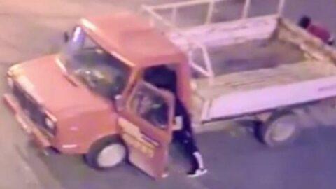 Küs eşiyle görüşüp barışabilmek için iki kamyonet çaldı