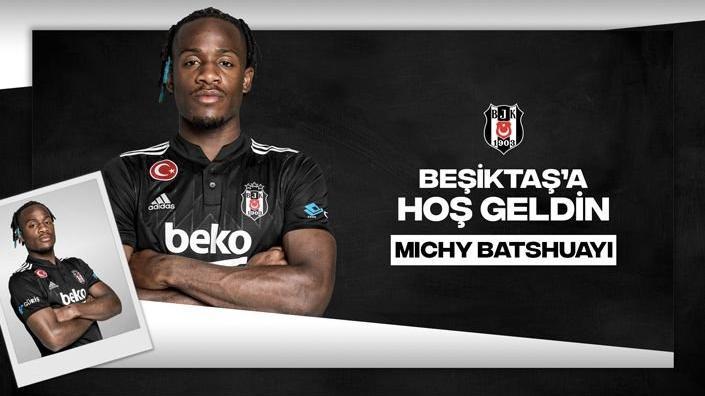 Beşiktaş, Michy Batshuayi'yi resmen açıkladı