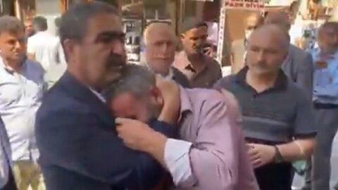 İş yeri yıkılan esnaf İYİ Parti milletvekiline sarılarak ağladı
