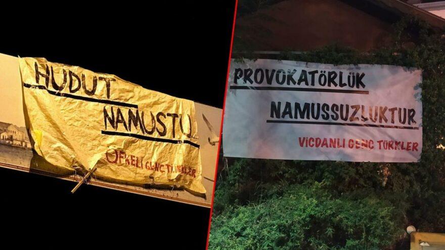 'Öfkeli Genç Türkler'e karşı 'Vicdanlı Genç Türkler' pankartı!