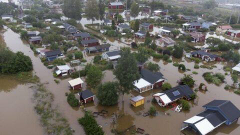İsveç'i sel vurdu