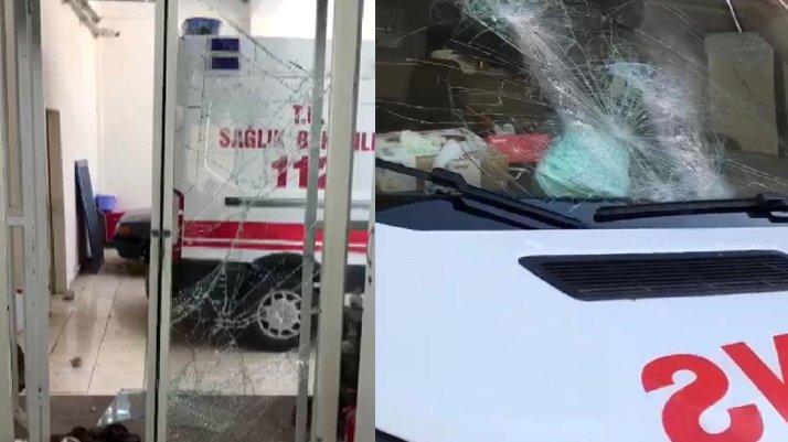 Diş ağrısına ambulans gelmeyince acile taşla saldırdı