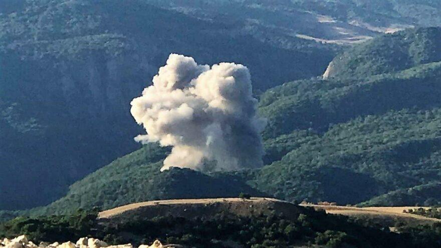 Ormanı ateşe veren PKK'lılara operasyon