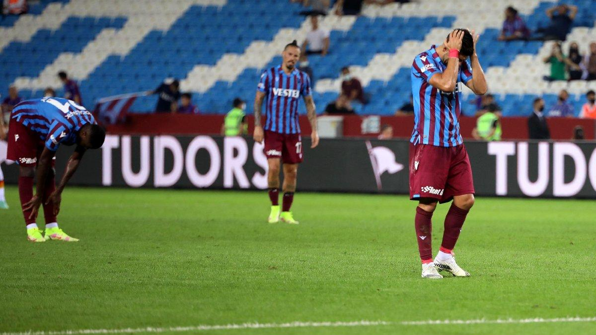 Trabzonspor'un umutları Roma'ya kaldı: 1-2