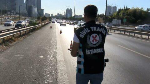 İstanbul'da çakar ve emniyet şeridi denetimi! İhlal edenlere ceza yağdı