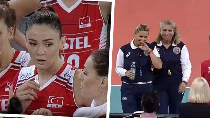 Türkiye Ukrayna maçında korkutan an! Başhakem Ksenija Jurkovic devam edemedi…