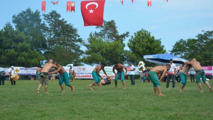 Samsun'da başpehlivan Recep Taslak