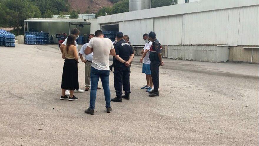 Şile'de kaçak su dolum tesisine operasyonu