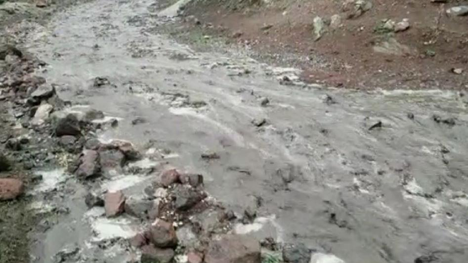 Ağrı Dağı eteğindeki köylerde sel meydana geldi