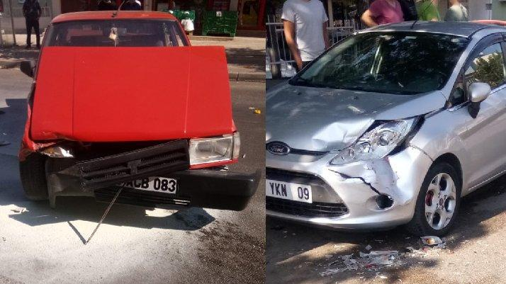 Direksiyona geçen çocuk kaza yaptı, LPG tankı patladı
