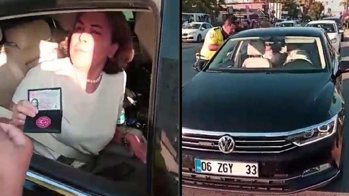 İşte skandalın görüntüsü: AKP'li vekil görevini yapan polise hakaretler savurdu