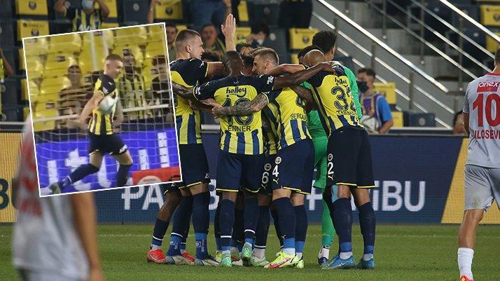 Fenerbahçe Antalyaspor maçında tartışılan penaltı pozisyonu