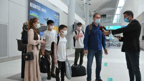 Afganistan'dan tahliye edilen 357 Türk ve yabancı İstanbul'a getirildi