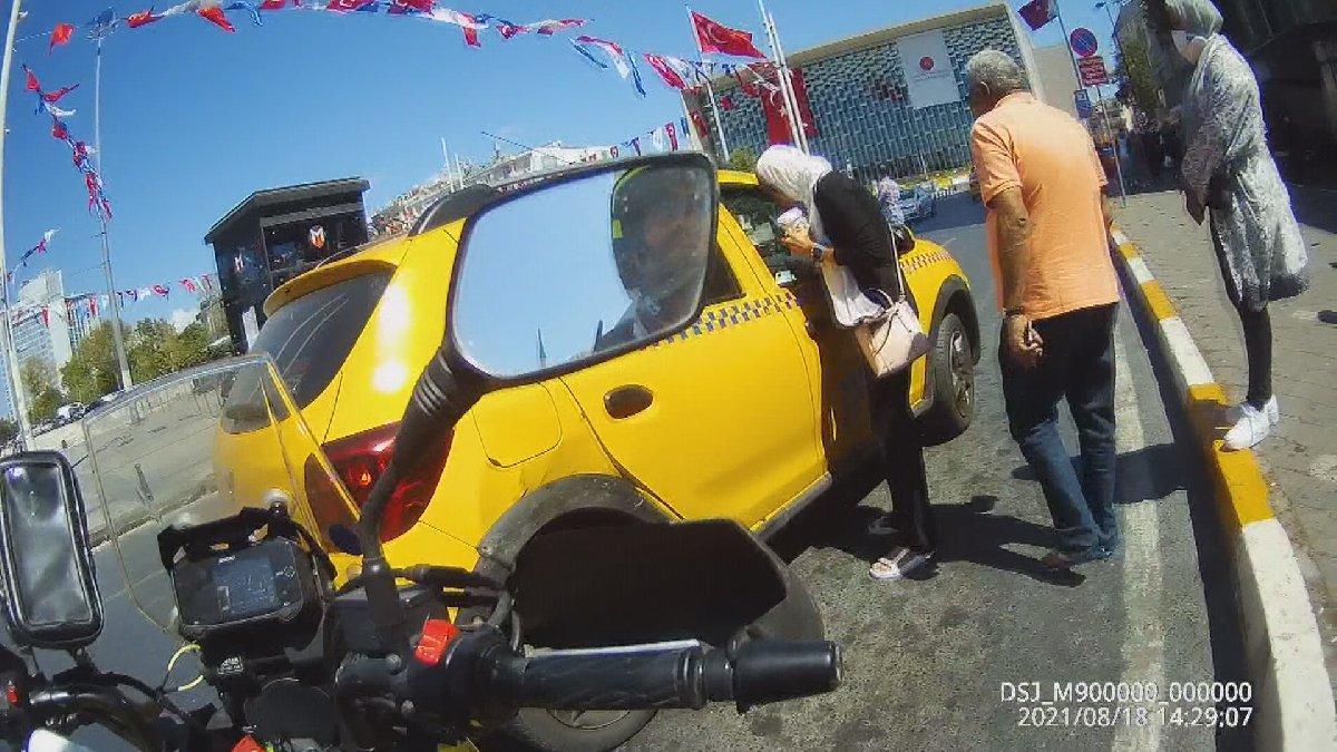 Taksim'de turistlerin taksici isyanı