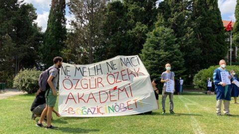 Boğaziçili akademisyenler ve öğrenciler Naci İnci'nin atanmasını protesto etti