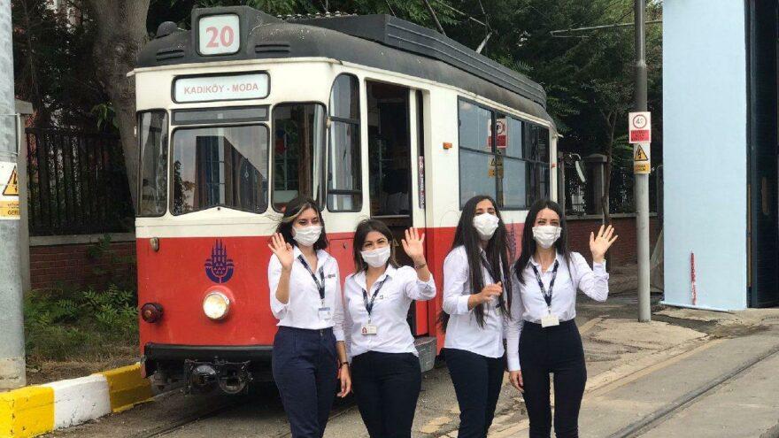 Nostaljik tramvayın ilk kadın makinistleri