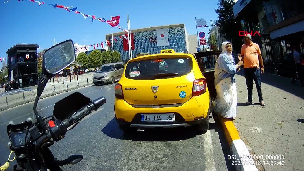 Taksimetre açmayan taksici trafikten men edildi