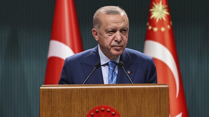 Cumhurbaşkanı Erdoğan Ümit Dündar, Mehmet Akarca ve Bekir Şahin'i kabul etti