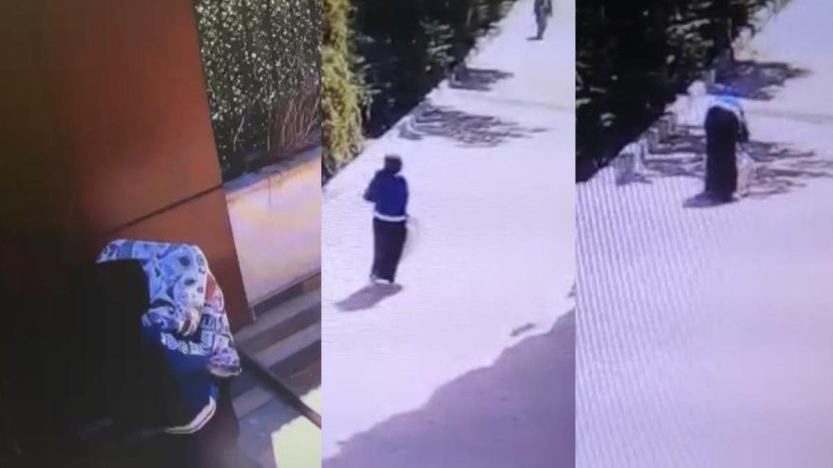 Haltercileri aratmayan kadın hırsız! Düştü kalktı yine de pes etmedi
