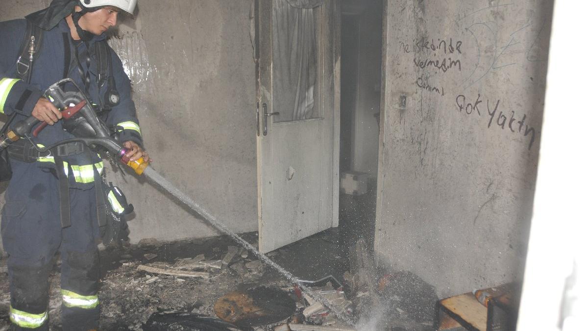 'Kirayı alamayınca evi yaktı' iddiası