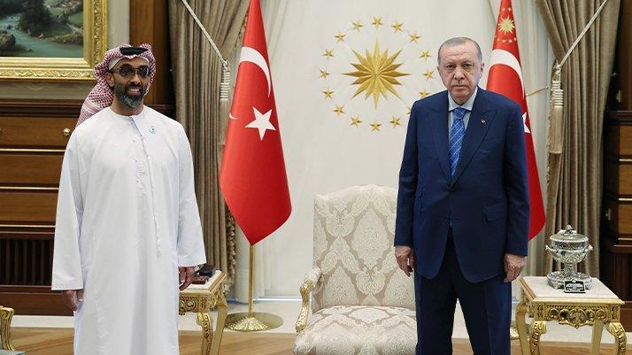 Erdoğan'la görüşen BAE'li yetkilinin şirketinden Türkiye açıklaması