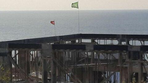 Cami inşaatına asılan bayrakla ilgili soruşturma