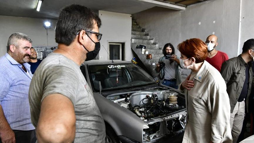Meral Akşener, sanayi sitesi esnafını ziyaret etti