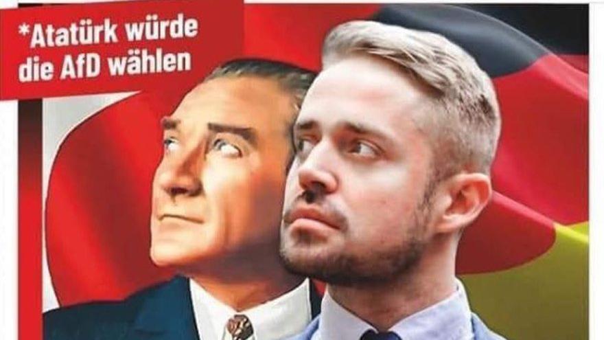 Alman ırkçı partiden Atatürk'e büyük saygısızlık