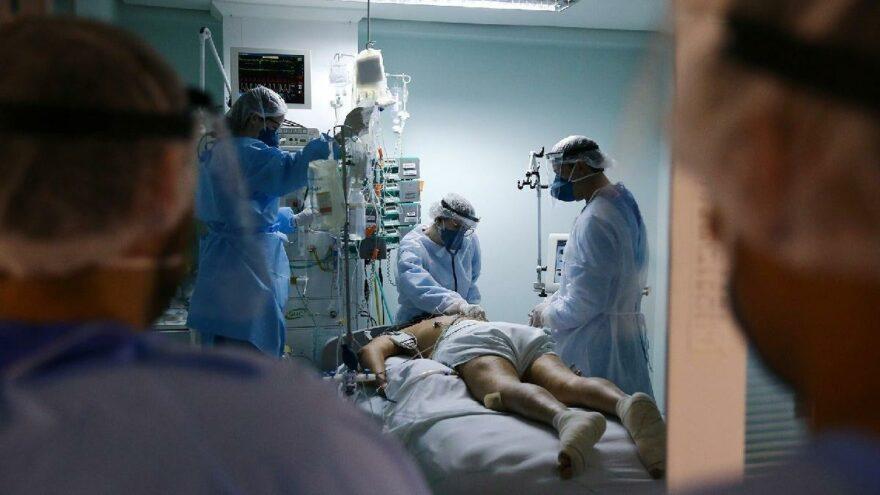 ABD'de hastaneye kaldırılan vaka sayısında rekor