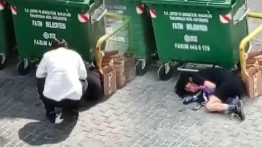 Fatih'te kadına şiddet kamerada
