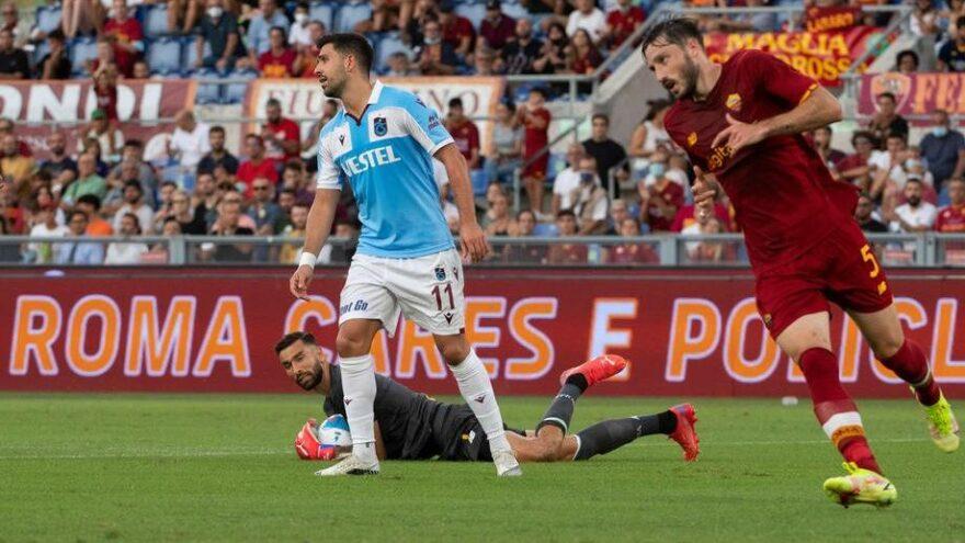 Trabzonspor Roma'dan çıkamadı! Avrupa'ya veda etti…