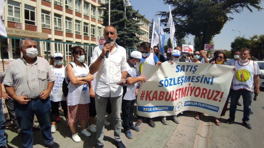KESK üyeleri memur zammını protesto etti