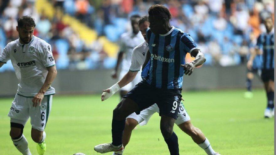Adana Demirspor Konyaspor'u da geçemedi! Balotelli krizi…