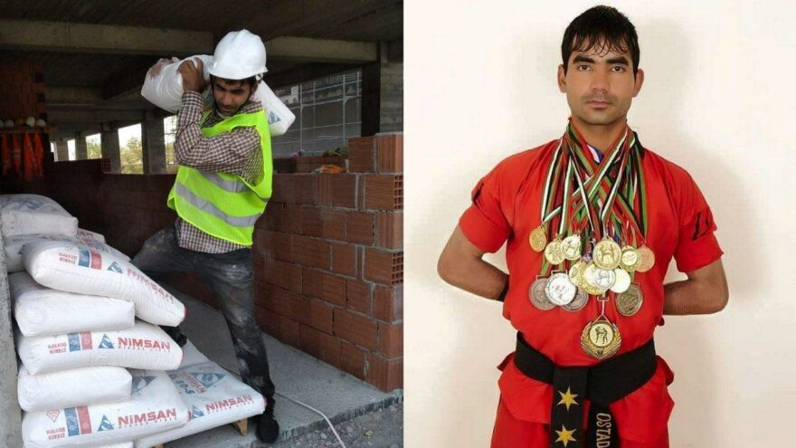 Afganistan'da şampiyondu, Erzincan'da…