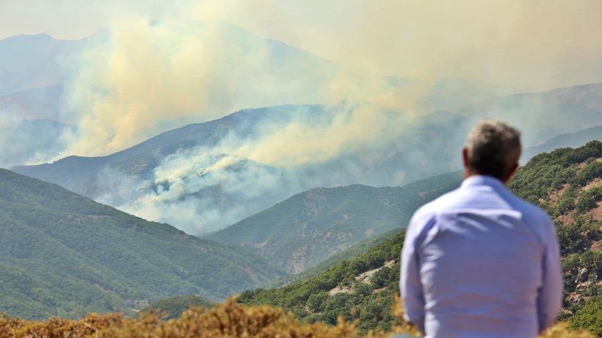 Tunceli'de aynı bölgede yine yangın çıktı