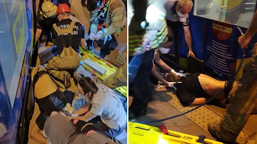 Bir kişi, tramvay ile peron arasına düşerek yaralandı